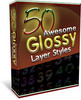 Thumbnail 50 Glossy Layer Styles with MRR
