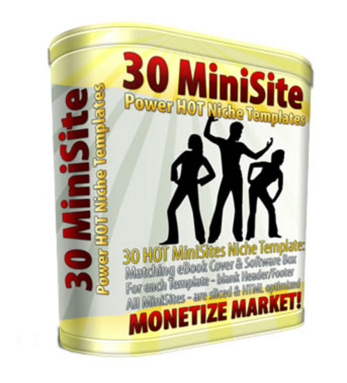 Product picture 30 Mini Site Templates MRR