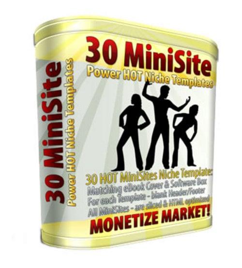 Product picture 30 Mini Site Templates MRR