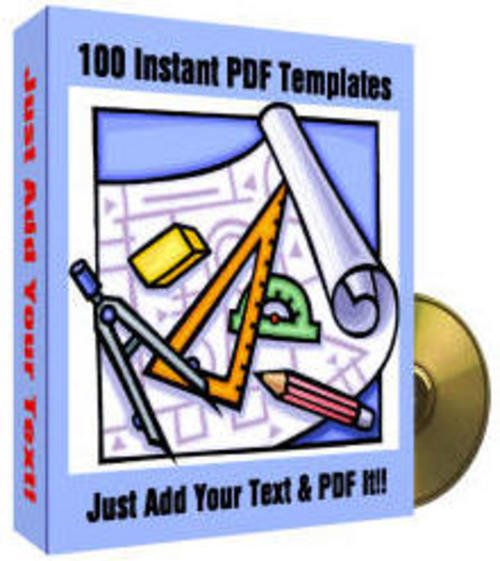 Product picture 50 PDF Templates MRR