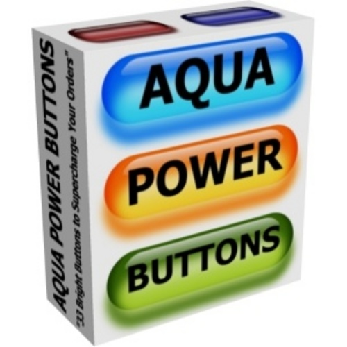 Product picture Aqua Power Buttons 1.0 MRR & PLR