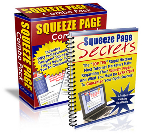 Product picture Squeeze Page Profit System with PLR