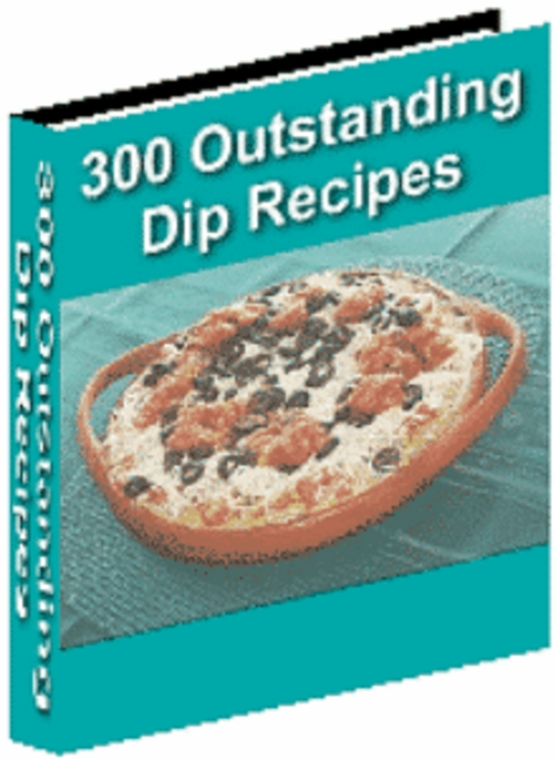 Product picture 300 Outstanding Dip Recipes with MRR