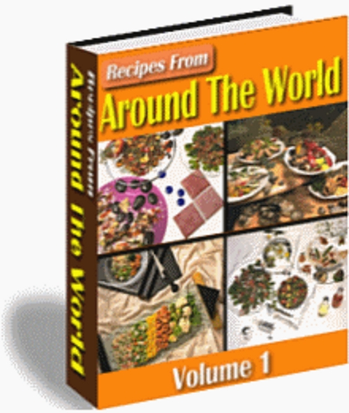 Product picture Recipes From Around The World Vol 1 & 2 With MRR