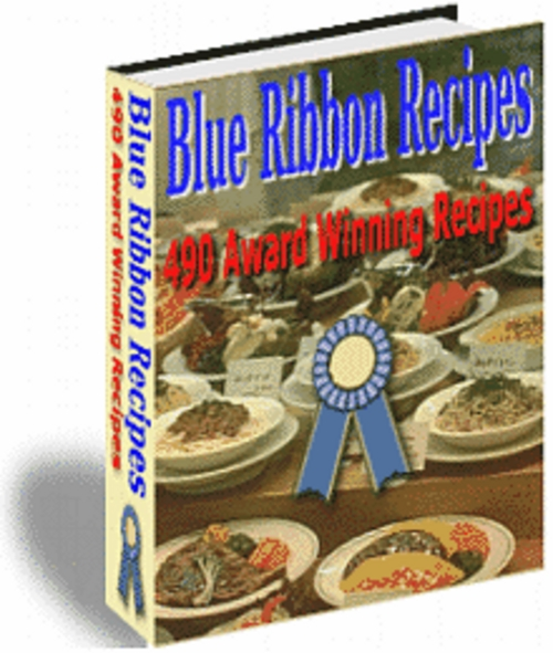 Product picture Blue Ribbon Recipes 490 Award Winning Recipes with MRR