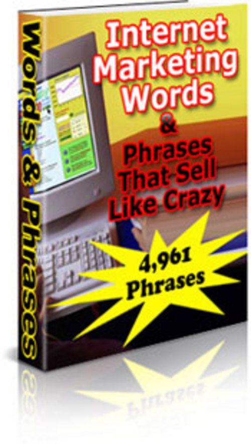 Product picture Internet Marketing Words & Phrases that Sell Like Crazy!