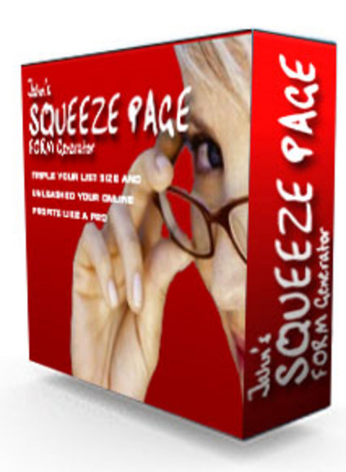 Product picture Squeeze Page Form Generator With MRR