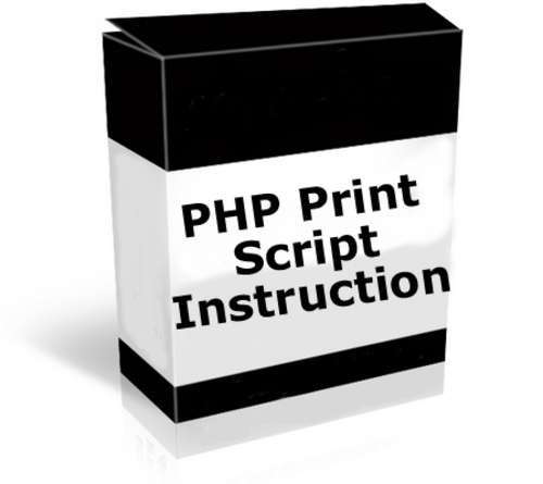 Product picture PHP - Print Page Script Instruction