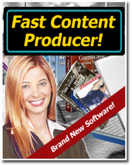 Product picture Fast Content Producer With MRR