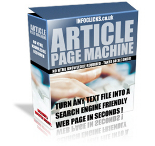 Product picture Article Page Machine With MRR