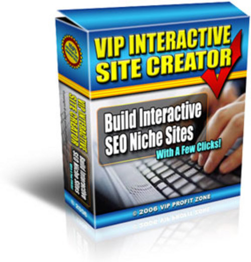 Product picture VIP Interactive Site Creator With MRR